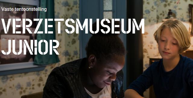 twee kinderen in verzetsmuseum beeld van website verzetsmuseum